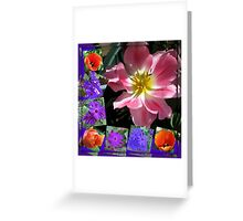 Spring Sunshine Tulips Collage Greeting Card