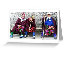 Pomac women in traditional dress Greeting Card