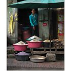 Rice Shop - Luang Prabang, Laos - Poster by fotinos