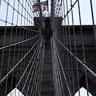 Patriotic Brooklyn bridge by contradirony