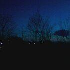 my backyard at sundown by Ethar Hamid