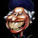 Queen Elizabeth of England caricature by kiko