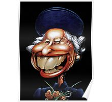 Queen Elizabeth of England caricature Poster