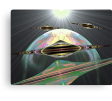 UFO Chase: Green Sun to Planet Gnarls 11 (UF0240) Canvas Print