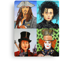 Johnny Depp collage Canvas Print