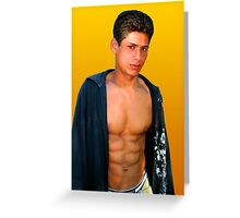 Young Handsome Guy Greeting Card