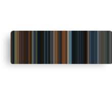 Moviebarcode: The Lord of the Rings: The Fellowship of the Ring (2001) [Simplified Colors] Canvas Print