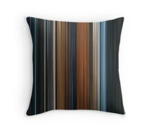 Moviebarcode: The Lord of the Rings: The Fellowship of the Ring (2001) Throw Pillow