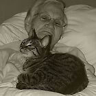 Granny and the cat by iamelmana