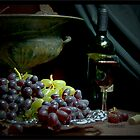 Italian Still Life-Fruit and Wine by 1illustlady