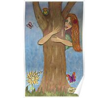 Hug a Tree for Earth Day!  Poster