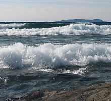 Wind and Waves on Lake Superior - Marathon Ontario Canada by loralea