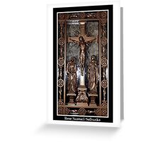Jesus on The Cross - Confessional Door Greeting Card