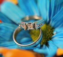wedding rings in flowers by KristaRebel