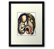 The Rolling Stones caricature Framed Print