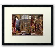 Inside the Basilica di San Marco Framed Print