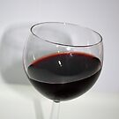 Single & Angled Glass of Red Wine by Sherry Hallemeier