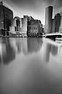 Boston Skyline BW by Andy Freer