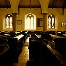The Pews- (St Kentigerns Church, Aspatria) by Lou Wilson