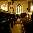 Church Pews- St Kentigerns. by Lou Wilson