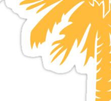 Yellow Palmetto Moon Sticker