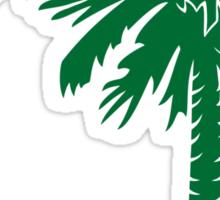 Green Palmetto Moon Sticker