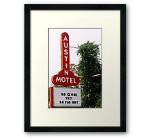 Austin Motel Framed Print