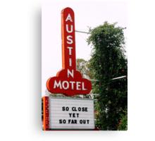 Austin Motel Canvas Print