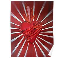 Bacon Wrapped Heart Poster