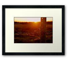 Rustic Sunset Framed Print