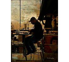 The worker - Lost in the past Photographic Print