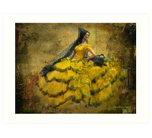 The dancer - Lost in the past Art Print