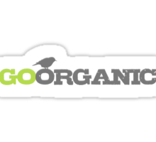 Go Organic Typography In Grey And Green Sticker