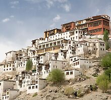 Thiksey Monastery by upadhyay