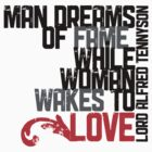 Man Dreams Of Fame Typography Quote by Rewards4life