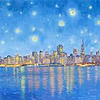 San Francisco starry night by Dominique Amendola by Dominique Amendola