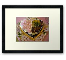 Priya's Wedding Cake (single layer) Framed Print