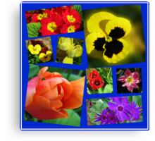 A Collage of Easter Flowers Canvas Print