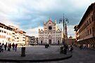 Florence Piaza Santa Croce by Sergey Martyushev