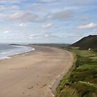The Beach at Rhossili Gower  by cofiant