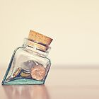 glass of coins by LaurieSchafer