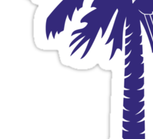 Purple Carolina Girl Palmetto Moon Sticker