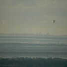 Hot Air Balloon Over Cumberland Plain by muz2142