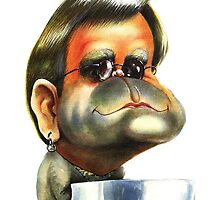Elton John caricature by kiko