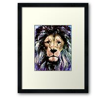 The Lion who lives through the back of my wardrobe Framed Print