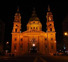 Basilica of St Stephens, Budapest At Night by wiggyofipswich