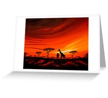 Giraffes at Daybreak Greeting Card