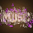 Music Graffiti Style In Purple And Brown by Rewards4life