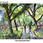 "GretchenArt ""Berry Springs Bicyclists"" by Gretchenart"