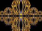 Golden Escher Night Lights  (UF0244) by barrowda
